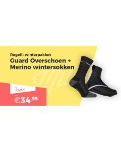 Rogelli Guard Overschoenen en Merino Wool Wintersokken Set