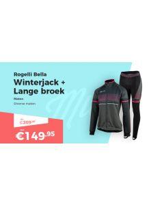 Rogelli Bella Winterjack en Fietsbroek Winterpakket