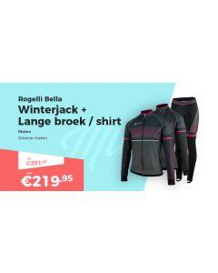Rogelli Bella Winterjack Fietsbroek en Fietsshirt Lange Mouwen Winterpakket