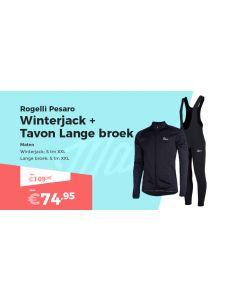 Rogelli Pesaro Winterjack en Tavon Fietsbroek Winterpakket