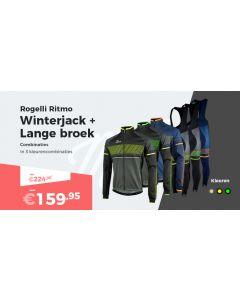 Rogelli Ritmo Fietsjack  en Fietsbroek Winterpakket