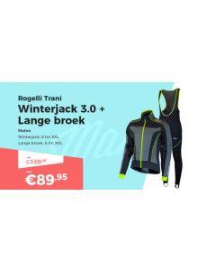 Rogelli Trani 3.0 Winterjack en Manzano 2.0 Fietsbroek Winterpakket